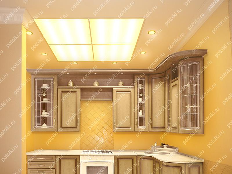 стеклянный потолок на кухне