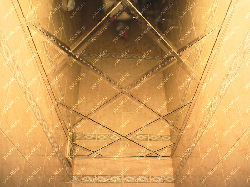 Зеркальный потолок подвесной
