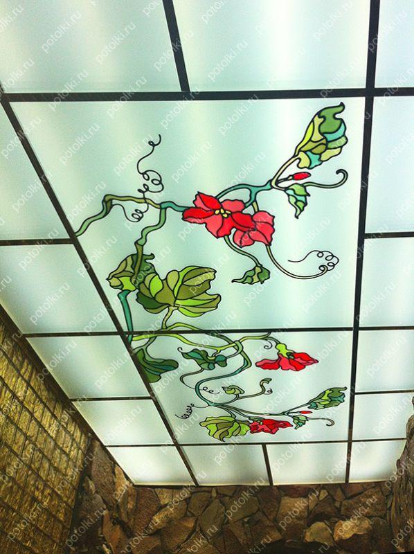 Декоративные витражные потолки