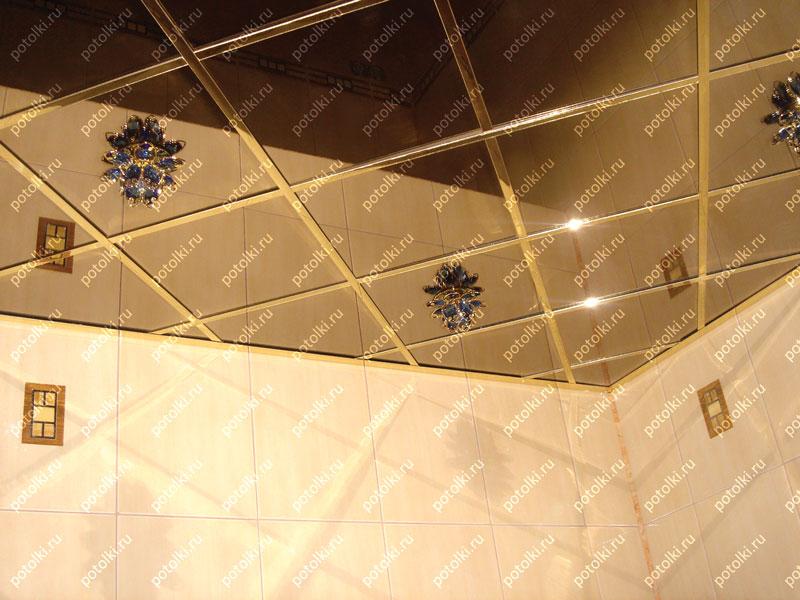 Стандартный алюминиевый потолок фото
