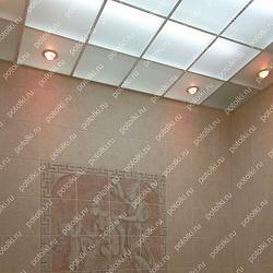 Зеркальный потолок с подвесной