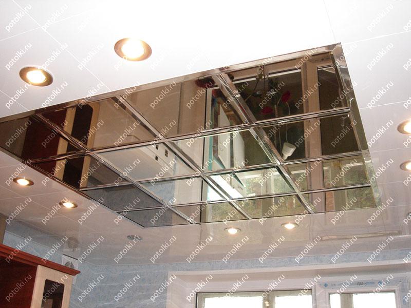 Кассетные зеркальные потолки