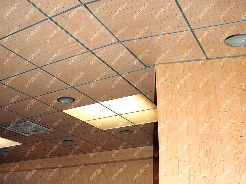 Потолок Армстронг коричневый