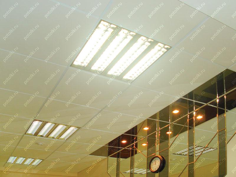 Светильники квадратные для потолков типа Армстронг
